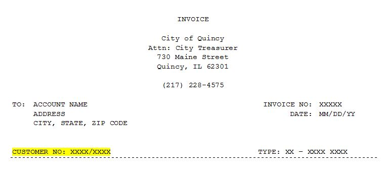 Sample City Invoice